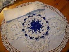 Vintage Doily-vintage,doily,buttons,ladies,gloves
