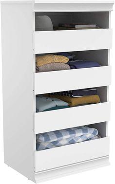 Amazon.com: ClosetMaid 4557 Modular Closet Storage Stackable Shelf Unit, White: Home & Kitchen