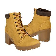 Capa De Ozono Zapatos Dama Botas 314307-2 Suede Amarillo - $ 471.00