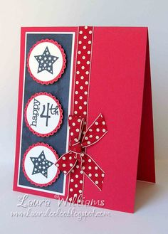 laura williams happy fourth.jpg Click image to close this window Handmade Greetings, Greeting Cards Handmade, American Card, Military Cards, Tarjetas Pop Up, Star Cards, Making Greeting Cards, Handmade Birthday Cards, Creative Cards