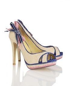 red, white, and blue...and peeptoe? perfect