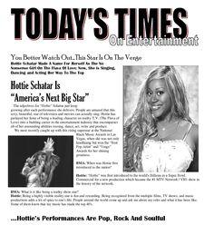 "Schatar ""Hottie"" Sapphira in Today's Times"