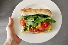 Peach-Arugula Sandwiches for summer! Stamp of approval on this one.