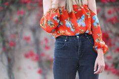 off the shoulder blouse action  #fashionblogger #blogger #fashion #style