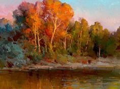 Ovanes Berberian, Last light by the river,  insane saturated colors