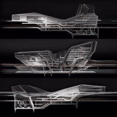 Final thesis project by Oscar DeLeon from Sci-Arc Architecture Concept Diagram, Architecture Presentation Board, Architecture Graphics, Architecture Drawings, Futuristic Architecture, Architecture Design, Organic Architecture, Sketches Arquitectura, Parametrisches Design