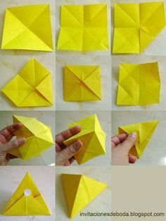 Souvenirs for wedding in Origami Origami Design, Origami Modular, Instruções Origami, Origami Yoda, Origami Star Box, Origami Fish, Paper Crafts Origami, Origami Folding, Origami Envelope