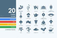 20 China icons by Palau on Creative Market