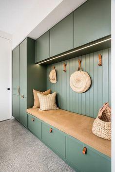 Home Entrance Decor, House Entrance, Home Room Design, House Design, Mudroom Laundry Room, Laundry Hamper, Flur Design, Kitchen Interior, Room Inspiration