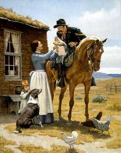 Bilderesultat for don oelze beautiful artist Films Western, Western Art, Western World, Cowboy Artwork, Cowboy Horse, Southwest Art, Le Far West, Country Art, Mountain Man