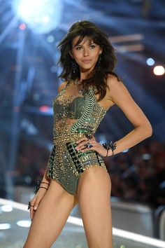 Georgia Fowler walks the runway during the 2016 Victoria's Secret Fashion Show on November 30, 2016 in Paris, France.