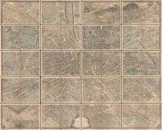 The c. 1900 Taride edition of Louis Bretez and Michel-Etienne Turgot's monumental 1739 map of Paris.