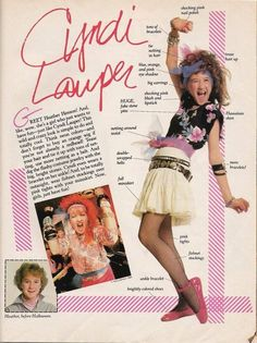 how to dress like cyndi lauper - i remember this article!!!