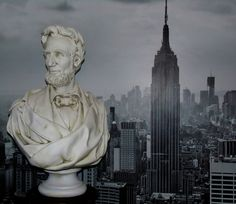 MUSEUM REPLICA ABRAHAM LINCOLN NEO CLASSICAL BUST MAGNIFICENT PIECE