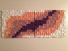 Geometric art, wood wall art, wood mosaic, abstract wood art, wood art by Woodartplanet on Etsy