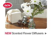 Elegant Flower Diffusers for the entryway. #YankeeCandle at the Boulevard at the Capital Centre