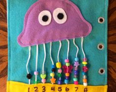 "Handmade ""Octopus Abacus"" Quiet Book Page-Single Page"