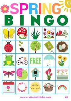 Activities For Adults, Spring Activities, Kindergarten Activities, Christmas Present Coloring Pages, Free Preschool, Preschool Ideas, Bingo For Kids, Hungry Caterpillar Activities, Bingo Sheets
