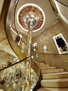 Fendi flagship store Paris  The light look like falls, also make u think about the time.
