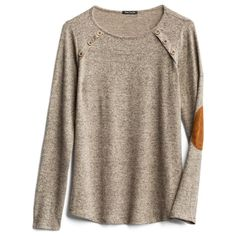 Looks very comfortable and the details make it more interesting than an average sweater. Pretty Outfits, Cute Outfits, Elbow Patch Sweater, Elbow Patches, Stitch Fix Fall, Casual Outfits, Fashion Outfits, Fall Outfits, Stitch Fix Outfits