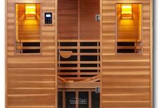 Detoxification, weightloss, muscle pain relief & clearer skin are among the many benefits of regular infrared sauna use; purchase your own Clearlight sauna! Clearlight Sauna, Sauna Heater, Infrared Heater, Infrared Sauna, Modern Baths, Modern Bathroom, Compound Wall Design, Sauna Design, Bath Store