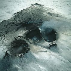 Icy Craters by Bernhard Edmaier - The volcanic Mount Etna on the Mediterranean island of Sicily, Italy. #Vulcano #Etna #Sicily #Italy