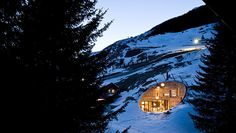 chalet dug into the mountain side in Switzerland. Designed by Peter Zumthor of SeARCH and CMA