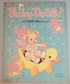 Baby Dolls w Cloth Like Fuzzy Clothes Uncut Paper Doll Book Whitman 1944 | eBay
