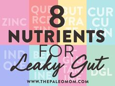 These nutrients for leaky gut help remodel the tight junction complex between gut cells resulting in a structure thats less leaky. Paleo Mom, Paleo Diet, Healthy Holistic Living, Healthy Living, Gut Health, Health Tips, Intestino Permeable, Rosacea Remedies