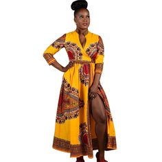 >> Click to Buy << Women Cloak African Print Winter Dress Fashion Vintage Maxi Dress Straight Long Sleeve Long Party Dresses Fast Shipping Fanoni #Affiliate