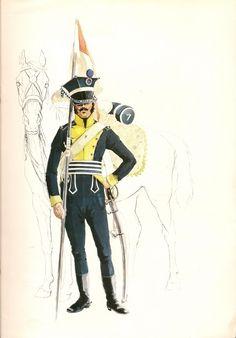 """EL CHASSEUR DE INFANTERIA LIGERA, 1804.- """"Las tropas ligeras ,decía el rey de Prusia ,en sus Instrucciones, son por lo general , la luz que..."""