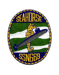 ssn 669 uss seahorse submarine patch military insignia item ...