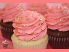 Classic Bridal Shower cupcakes in Coral and Gold! Visit Omg! Cupcakes at https://www.facebook.com/OmgCupcakesGP