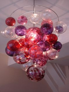 glass balls: chandelier