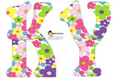 Alfabeto con flores en colores vivos. | Oh my Alfabetos!
