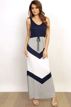 Don't Look Down Dress In Navy