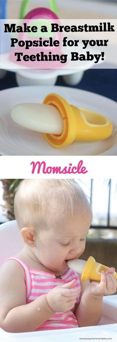 Momsicle - Breastmilk popsicles for babies! These are brilliant!! Check out the awesome baby sized popsicle molds she used.