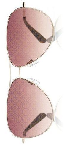 Tory Burch rose gold aviator sunglasses