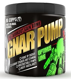BRO SUPPS GNAR PUMP  PREWORKOUT SUPPLEMENT POWDER Maximum Energy  No Jitters  OPTIMUS LIME  by DOM MAZZETTI  30 serving size -- Want additional info? Click on the image.  This link participates in Amazon Service LLC Associates Program, a program designed to let participant earn advertising fees by advertising and linking to Amazon.com.
