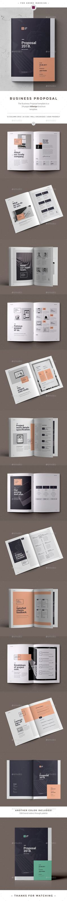 Proposal — InDesign INDD #project proposal #best proposal • Available here ➝ https://graphicriver.net/item/proposal/20775208?ref=pxcr