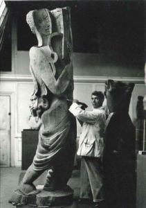 Osip Zadkine....sculptor inside La Ruche.