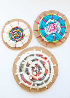 Manualidades  con lana, telar circular fácil