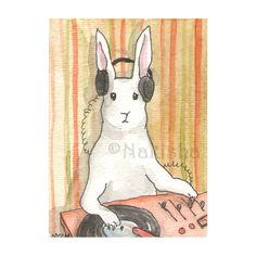 It's Mixmaster B! Another great rabbit illustration by @bluedogrose