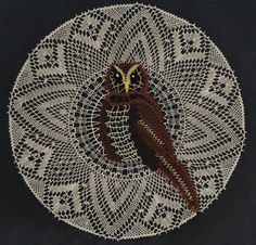 Mandala chouette, 2013/10 (3euros) réalisée par Annie Marie-Antoinette