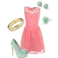 Pink & Teal night out on the town by emilyisenberg on Polyvore featuring мода, Miss Selfridge, Miss KG, Paloma Picasso, Sabine and pink teal flower dress night out outfit