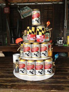 Maryland Themed Birthday Beer Cake