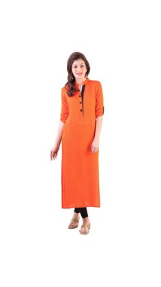 Buy Saiveera New Arrival Orange Color Casual Cotton Kurti Online at Low Prices in India - Paytm.com Saiveera Fashion is Popular brand in Women Clothing in Surat. Saiveera Fashion is Produce many kind of Women's Clothes like Anarkali Salwar Suits, Straight Salwar Suits, Patiala Salwar Suits, Palazzos, Sarees, Leggings, Salwars, Kurtis, etc. For any Query Contact/Whatsapp on +91-8469103344.
