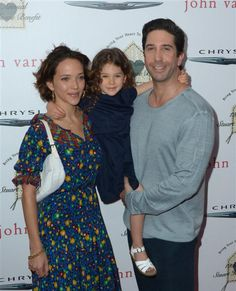 Zoe Buckman, David Schwimmer and their daughter, Cleo, attended John Varvatos' 12th annual Stuart House Benefit in Los Angeles on April 26, 2016.