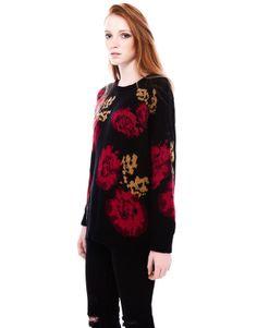 CRETONNE FLOWER JERSEY - KNITWEAR - WOMAN - PULL&BEAR Portugal