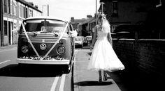 VW camper wedding vehicle